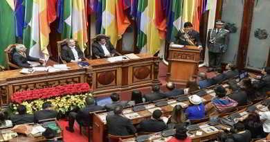 22 enero 2018, La Paz. - El presidente de Bolivia, Evo Morales brinda informe de gestión durante la sesión de la Asamblea Legislativa Plurinacional. Foto: Freddy Zarco.