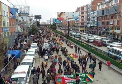 Distrito 7 se moviliza en demanda de la conclusión del proyecto cárcamos de bombeo y planta de Tacachira