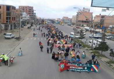 Distrito 8 amenaza con movilizaciones  ante falta de respuesta de la Alcaldía por el POA ajustado III