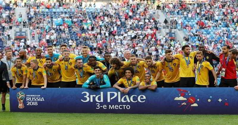 Bélgica logra mejor actuación en Mundial, es tercera con triunfo ante Inglaterra