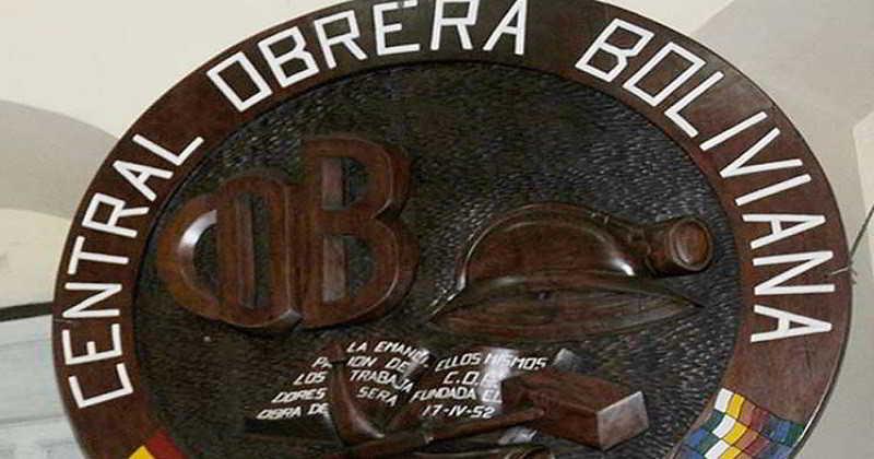 COB respalda a López y rechaza confabulación de la oposición para desprestigiar al Gobierno