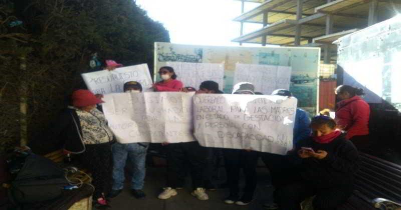 Guardias Municipales instalan huelga de hambre, exigen la  recontratación en sus fuentes laborales