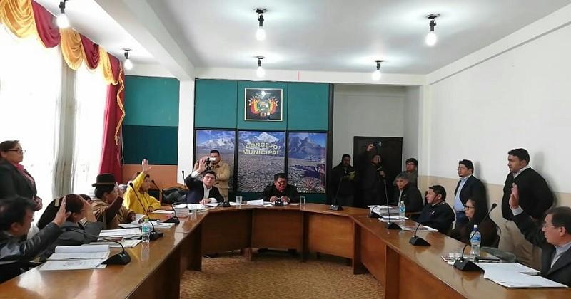 Concejo Municipal votación