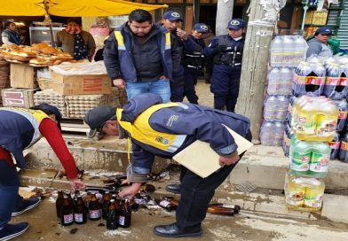 Intendencia decomisó bebidas alcohólicas en tiendas de la extranca de San Roque