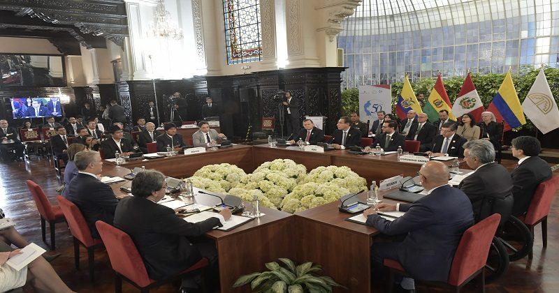 Morales: asumimos con mucho compromiso la presidencia pro témpore de la Comunidad Andina