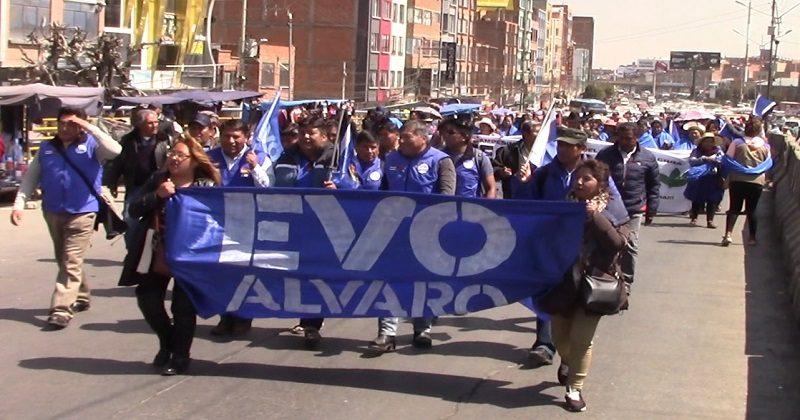 MAS programa caravanas y caminatas en El Alto