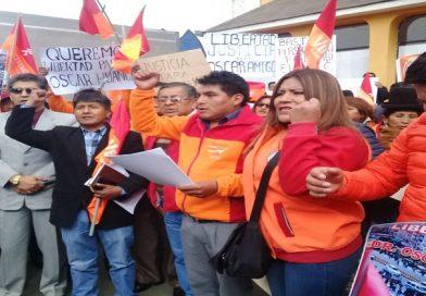 """Venceremos sale en defensa de su líder Oscar Huanca y denuncian """"persecución política"""""""