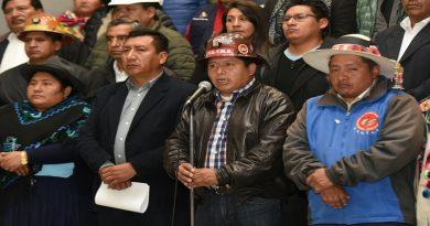 COB y Conalcam declaran estado de emergencia y movilización pacífica en defensa de la democracia