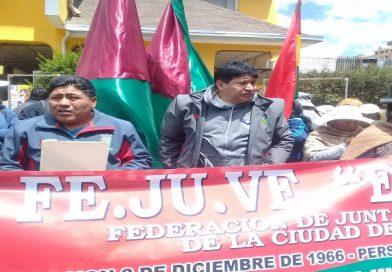Fejuve 'contestataria' se suma al pedido de convocatoria a nuevas elecciones