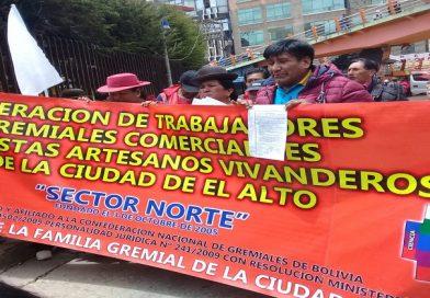 Gremialistas convocan a 'Cabildo Cívico de Unidad y Paz' en El Alto