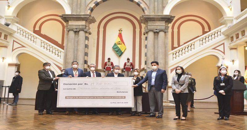 Asoban y empresariado boliviano donan Bs 22 millones para la lucha contra el COVID-19