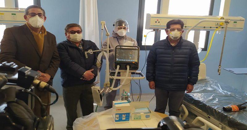 CBN dona dos respiradores artificiales y elementos de bioseguridad al Hospital del Sur