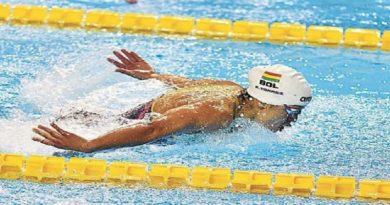 Bolivia obtiene siete medallas de oro y marcas para dos eventos internacionales en campeonato de natación