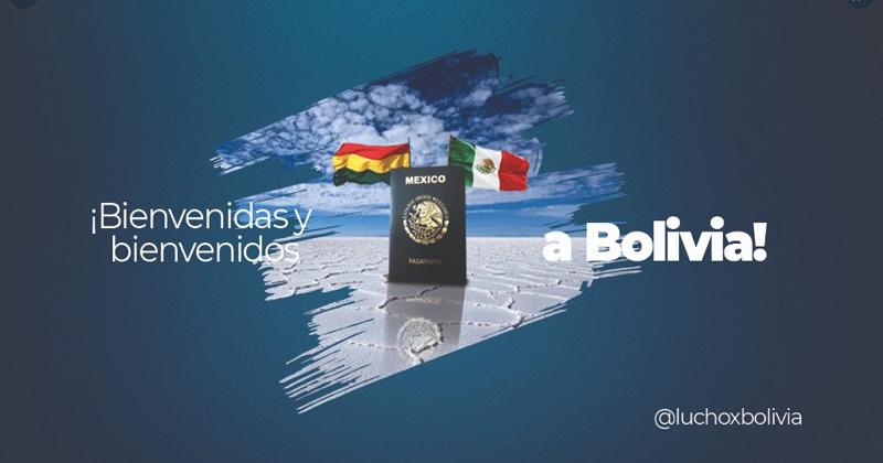 Ciudadanos mexicanos podrán visitar Bolivia hasta por 180 días continuos