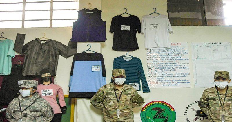 Soldados exponen sus trabajos confeccionados en áreas técnicas productivas