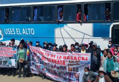 Marchistas que demandan justicia por masacres reciben atención médica en Patacamaya